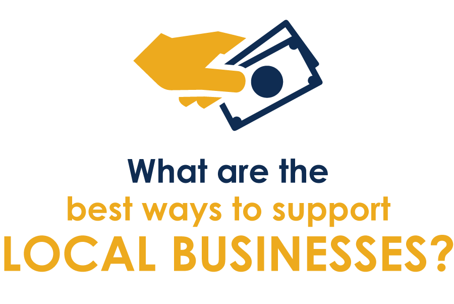 Click Here to let us know what you think is the best way to support local businesses