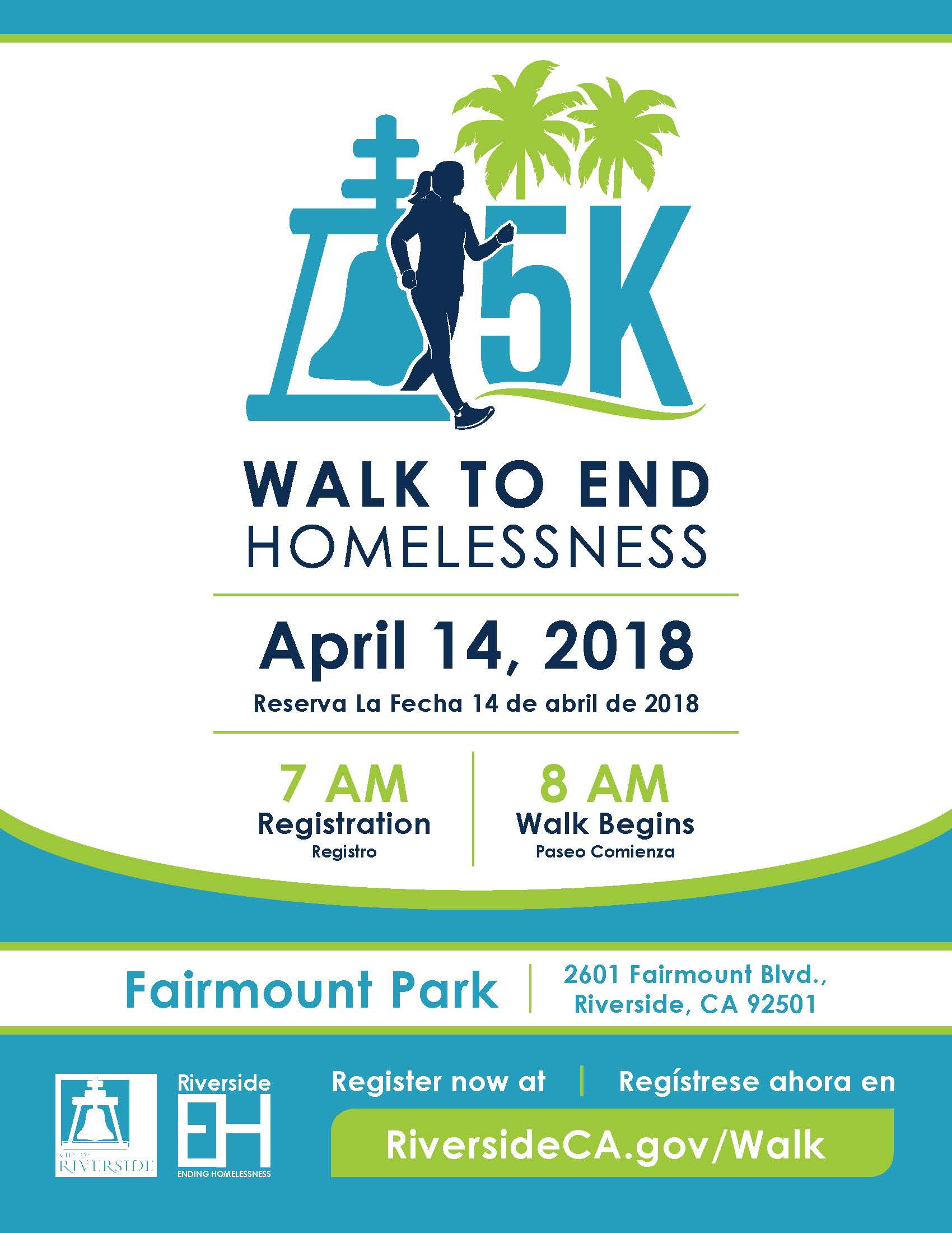 walk to end homelessness flyer, April 14, 2018 at Fairmount Park