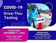 COVID-19 Drive Thru Testing