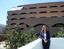 Mayor Lock Dawson standing with Riverside City Hall in the background