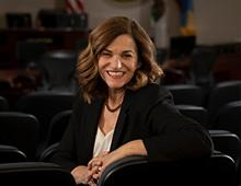 Mayor Patricia Lock Dawson sitting