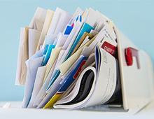 Clutter in a mailbox