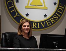 Mayor Patricia Lock Dawson sitting in Council Chambers