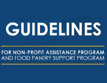 Guidelines for Nonprofit and Food Pantry Assistance Program