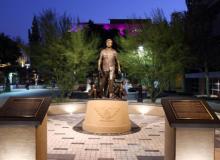 Cesar Chavez Statue in Downtown Riverside