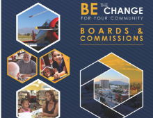 Be the Change text and faces of community members